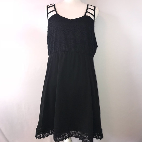 Vanity Plus Size 16 Black Lace Cute Summer Dress